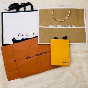 Louis Vuitton, Gucci, Fendi Paper Bags